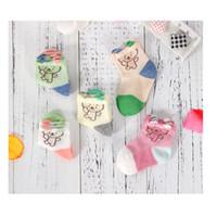 Wholesale Kids Designer Socks - Baby Sock Soft Cotton Designer Short Cute Bear Socks For Infant Stockings For Children Kid Wholesale
