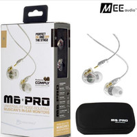 Wholesale Ears Monitors - MEE Audio M6 PRO Noise Canceling 3.5mm HiFi In-Ear Monitors Earphones with Detachable Cables Sports Wired Headphones 2 Colors DHL Free