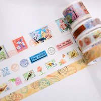 All'ingrosso- 2016 4 Roll Vintage Washi Tapes DIY Nastri decorativi adesivi da masticare Scrapbooking Planner Journal Stickers Retro Stationery fo