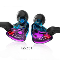 Wholesale high hifi - KZ ZST HIFI Headphones with Heavy Bass and Noise Isolating Ear Hook Sports Headsets High Sensitivity HD Earphones For Samsung IPhone Xiaomi