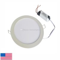 "Wholesale Led Remote Dimmable Switch - Stock in US! Ultra thin Down lights 12W 15W 6"" dimmable LED Panel Light Recessed ceiling downlight indoor Lighting lamps"
