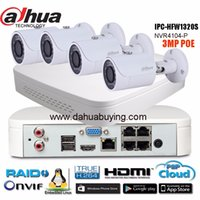 Wholesale Pc Easy Access - Dahua 4Ch 1080P NVR4104-P Kit Bullet IP Camera System P2P 4 Channel POE NVR System Onvif & Easy Access Supports PC&Mobile View