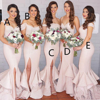 Wholesale Different Style Chiffon Bridesmaid Dresses - Different Styles Gorgeous Sequined Mermaid 2017 Bridesmaid Dresses Long Wedding Guest Dress Sweep Train Luxury Evening Gowns for Bridesmaids