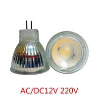 Wholesale Mr11 Led Warm - led spotlight 3W MR11 AC DC12V 220v LED Lighting Bulbs 3014 SMD Warm Cool White cob LED Bulbs for Living Room