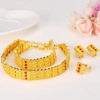 Wholesale Ethiopian Jewelry - New Arrival Ethiopian Style Set Jewelry Chokers Necklace Bracelet Earring Ring Sets Eritrea Habesha Africa Women