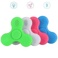 Wholesale Cool Toys For Big Kids - 2017 Hot COOL LED light Hand Spinner Bluetooth Speaker Music Hand Spinner EDC Hand Spinner For Autism Finger Toy