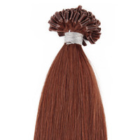 Wholesale top light nails online - Straight Nail Top Extension U Tip Hair Extensions Human g U tip Extensions Strands Pre Bonded Nail Tip Pre bonded Hair Extensions