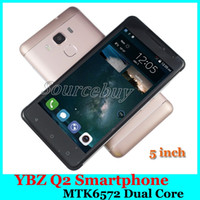 Wholesale Cheap Wholesale Smartphones - 5.0 inch YBZ Q2 Smartphones MTK6572 Dual Core 512MB 4GB Android 5.1 Dual SIM GPS WCDMA 3G Cell phone Cheap Phone