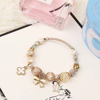 Wholesale Handmade Glass Beaded - Europe and the United States jewelry creative DIY handmade beads, hand pan, personalized crystal glass bracelet