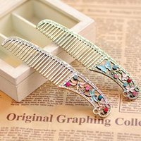 Wholesale Dragonfly Comb - Retro to Do the Old Hollow Dressing Butterfly Dragonfly Head Comb Headdress
