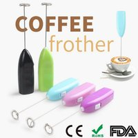 Wholesale Mini Multi Mixer - Hand Mixer Popular Mini Electrical Eggbeater Coffee Milk Drink Whisk Mixer Mini Portable Stainless Steel Kitchen Gadgets wa4056