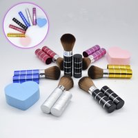 Wholesale Goat Design - New Design 1Pcs MIni Soft Makeup Brush Retractable Pro Foundation Cosmetic Blusher Face Powder Brushes Beauty Tools 2016 Hot