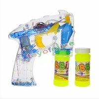 Wholesale Bubbles Guns - Wholesale-Flashing Bubble Gun - Light Up Blower Blaster With LED Lights Great Party Favor