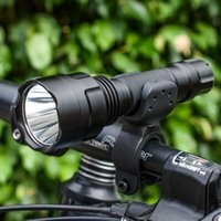 Wholesale Led Light Bulbs For Bikes - 2x18650 Aircraft Aluminium Waterproof LED Tactical flashlight Bike Light for Cycling Camping Hiking Hunting Fishing