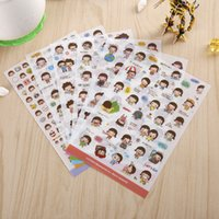 Atacado- (6 folhas) / Lote DIY Cute <b>momoi Stickers</b> for Diary Notebook Telephone Kawaii Decoration Sticker Stationery