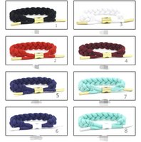 Wholesale Woven Jade Charm Bracelet - Europe and the United States tide brand lion wristbands, AJ fashion lions hand woven bracelets, bracelets, best-selling explosive models, wh