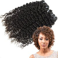 Wholesale Cheap Hair Spirals - High quality 3pcs lot Grade cheap brazilian curly virgin hair Spiral curl hair free shedding and tangle human hair extensions
