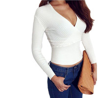 ingrosso blusa dolman-Blusa de renda Camicetta sexy Novità Tee Shirt Femme Arancione Aperto Indietro Scollo laterale laterale Camicia casual Top Bianco raccolto Crop Increspatura S25852