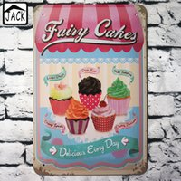 FAIRY CAKE 20x30cm Vintage Blechschild Noshery Bar Pub Home Coffee Shop Kithchen Wand Dekor Retro Metall Kunst Poster Plaque