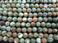 jasper boncuk ipleri toptan satış-Doğal Mookaite boncuk, Sarısı Jasper Amazonit Boncuk Yuvarlak yönlü Gökkuşağı BloodStone Gevşek Boncuk 6-12mm 16 inç tam strand