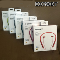 Wholesale Earphones Mdr - wireless Hanging ear stereo Portable earphone Sport Bluetooth headset SONY MDR-EX750 hight quality Headphone