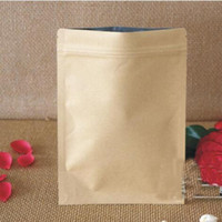 Wholesale Paper Line - 10*15cm Kraft Paper Food Storage Bags with Aluminum Foil Lining Stand UP Pouch Ziplock Packaging Bag for Snack Candy Cookie Baking