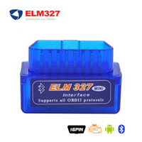 Wholesale Buttons Code - Mini Bluetooth ELM327 OBD2 V1.5 V2.1 Diagnostic Scanner With Power Switch on off button ELM 327 BT adapter V 1.5