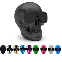Wholesale mega player for sale - Group buy Portable Skull Bluetooth Speakers Skull Head Ghost Wireless Stereo Subwoofer Mega Bass D Stereo Hand free Audio Player Mini Speaker Newest