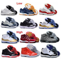 Wholesale Neoprene Sales - Wholesale Metallic Gold Olympic Air Retro Low 11 Retro 11s hot sale free shipping Basketball Shoes Men and Women