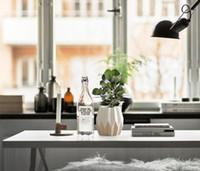 Wholesale Design Ceramic Vase - New Design Ceramic Novel Vase Modern Minimalist Living Room Table Soft Decoration Ornaments Wholesale Flower Wedding Gift Chrisma HP284