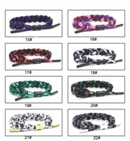 Wholesale Polyester Shoelaces - New 105 Style Rastaclat Galaxy Shoelace Bracelet Wristband Handwoven Adjustable Ties 16CM 100% Polyester Chain One Size Fits MOST Gift Cheap