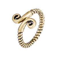 Wholesale Gold Jewelery Sets - Viking Jewelry Small Anchor Ring Female Fashion Cute Love Finger Rings Antique gold color male finger ring men jewelery Fashion Wholesale