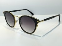 Wholesale women s designer sunglasses resale online - new fashion women brand designer sunglasses Jimmy sunglasses RAFFY S round frame vintage style coating miirror lens bling frame