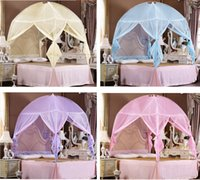Wholesale Lace Princess Bedding Canopy Mosquito Net Tent For Twin Queen King Bed Size