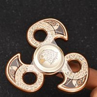 Metal Eagle Head Spinner Zinc Alloy Falco Spinner Machined Metal Falcon Mano Spinner Fidget Spinners EDC Decompression Fidget Toys