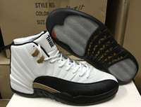 Wholesale New Year Boxes - High Quality Retro 12 Chinese New Year 3M Reflect Men Basketball Shoes 12s Taxi White Black Gold Athletics Sneakers New With Shoes Box