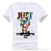Wholesale Wholesale Street Wears - New Fashion T-shirt Brand Clothing Just Do It Letter Print Men T Shirt Summer Sport Top Tees Street wear Anime Male Tshirt