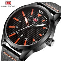 Wholesale Trendy Sport Watch Black - MINIFOCUS Waterproof Fashion Quartz Wristwatch Luxury Brand Leather Male Clocks Casual Sport Watches Trendy Mens Watches relogio
