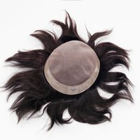 Wholesale Men Hair Toupee - Human Hair Toupee 5x8 5x9 6x8 7x9 8x10 8x11 9x11 Inches Mono Base Men Hair Piece