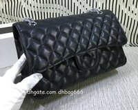 Livraison gratuite! Le plus récent de style classique Sacs de mode sac à bandoulière femme Lady CF Chaussures Sacs à main sacs à main 112 119 115 Diamond Lattice Caviar Leather