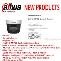 DAHUA Security IP camera cctv 4x 2MP mini HD PTZ fotocamera a cupola con telecamera POE Wifi senza logo SD29204T-GN-W