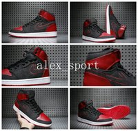 Wholesale I Shoes Boots - New Air Retro I 1s Men Basketball Shoes Red Grey Wool AAA Quality Retro 1 Mens Boots Trainers Sport Shoes Athletic Sneakers 8-13