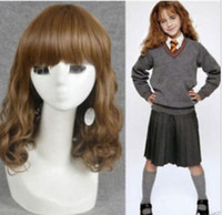 Harry Potter Hermine New Style Medium Cosplay braunes Haar Perücke Perruque Perücken für Frauen