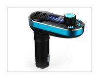 apfelsender für auto großhandel-Bluetooth Auto FM Transmitter 2.1A Dual USB Auto Ladegerät BT66 MP3 Player Car Kit für Handy Freies Verschiffen