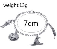 Wholesale wholesale ancient coins - film jewelry Ancient Silver Bracelet Talking Hat Wingardium Leviosa Dobby Coin Charm Bangle Cuff for Women Jewelry Gift 161724