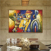 Wholesale Picasso Art Pictures - Famous paintings Picasso abstract oil painting The flower girl wall art decoration picture Hand-painted on canvas
