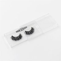 Wholesale 3d hair - 3D mink eyelashes Messy Cross Thick Natural Fake Eye Lashes Professional Makeup Bigeye Eye Lashes Handmade A014