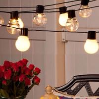 Wholesale Luces Led Navidad - Wholesale-4.8m 6m Solar Lamps 5cm 20 LED Balls Christmas Fairy Lights Garlands Home Outdoor Navidad Luces Decorativas Wedding String Light