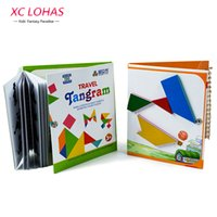 Wholesale Tangram Jigsaws - Wholesale- 3 Types Magnetic Tangram Puzzle Jigsaw Montessori Educational Toy Puzzles For Children Brain Human Birthday Gifts IQ Kids Toys