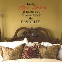 Wholesale Sticker Love Story - Our Love Story is my Favorite Quotes Vinyl Wall Decals Stickers Art Murals for Living Room Bedroom Decor